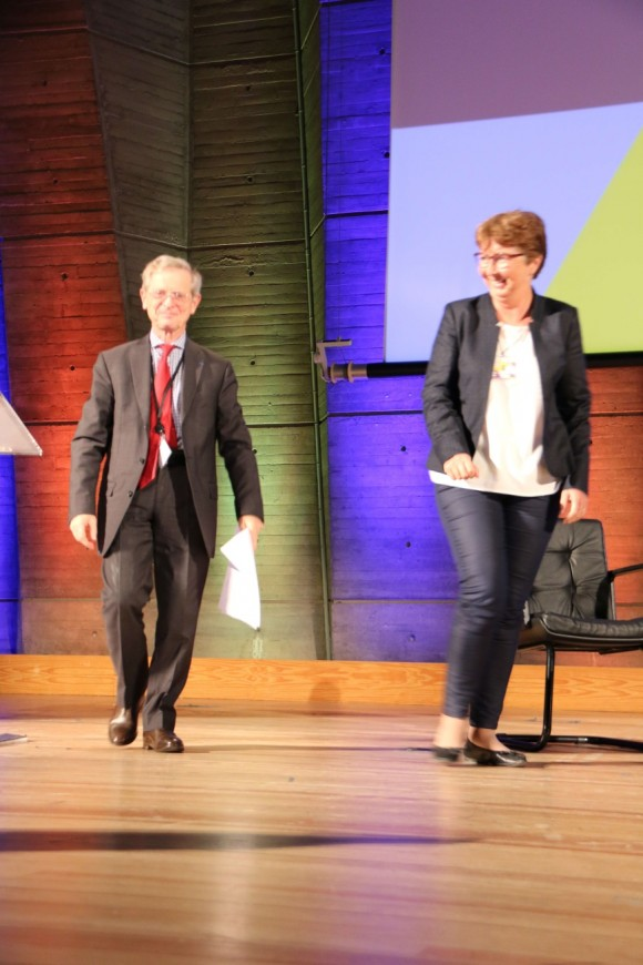 Jérôme Vignon et Dominique Quinio lors de la Session 2015 des Semaines sociales de France