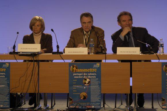 """JEan Boissonnat à la session """"transmettre"""" en 2005"""